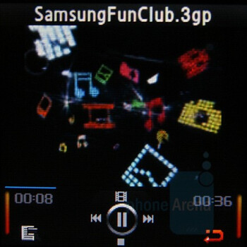 Video Player - Samsung SGH-E590 Review