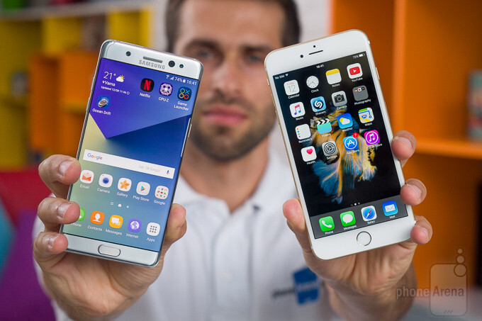 Samsung Galaxy Note 7 vs Apple iPhone 6s Plus