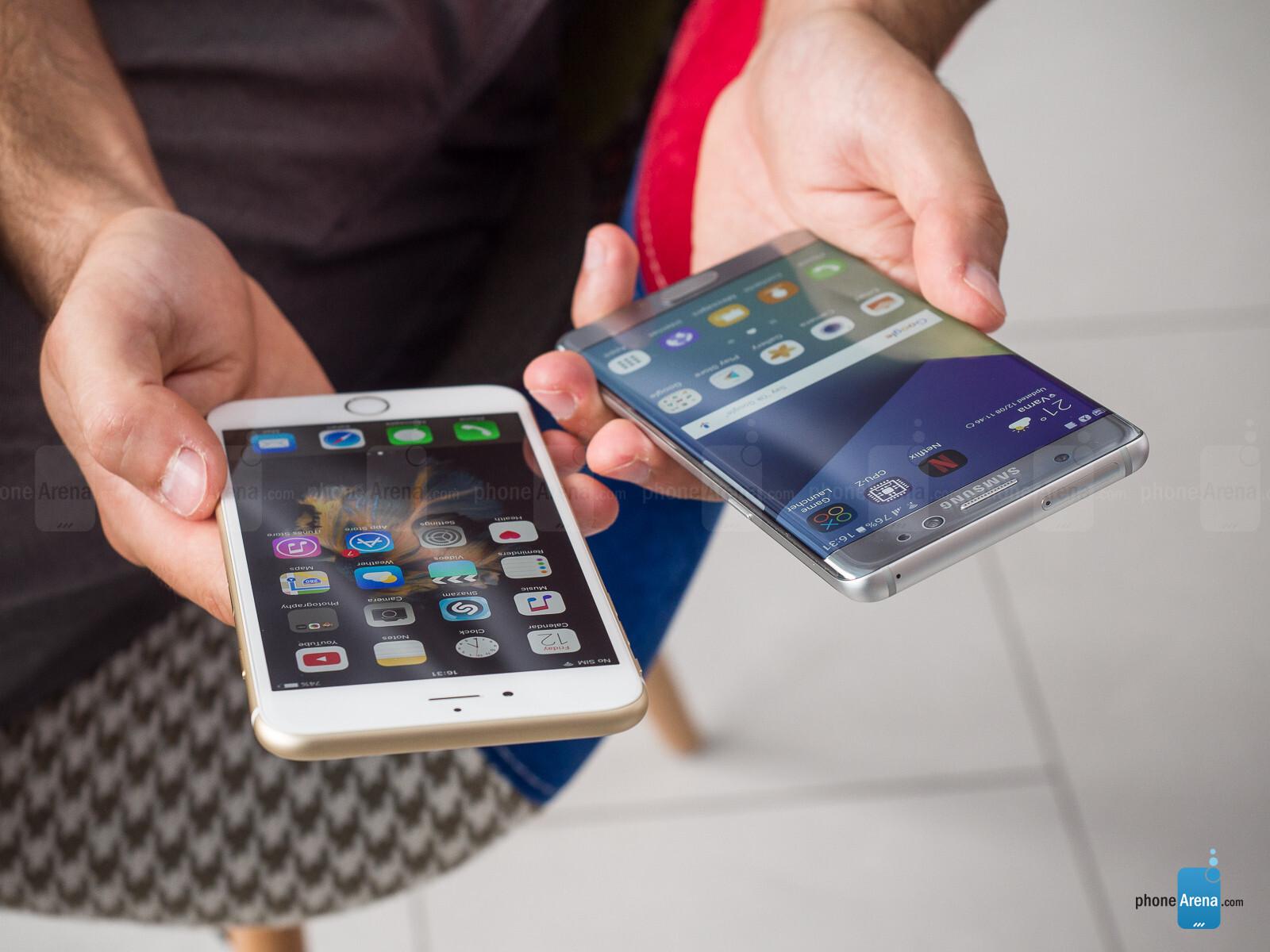Samsung Galaxy Note 7 Vs Apple Iphone 6s Plus