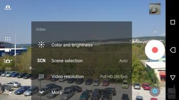 The camera UI of the Sony Xperia XZ - Sony Xperia XZ Review