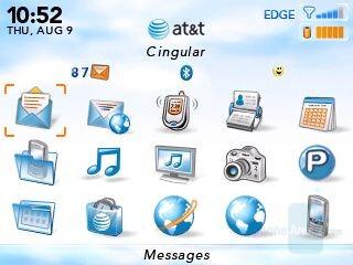 AT&T default theme - RIM BlackBerry Curve Review