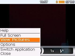 Camera interface - RIM BlackBerry Curve Review