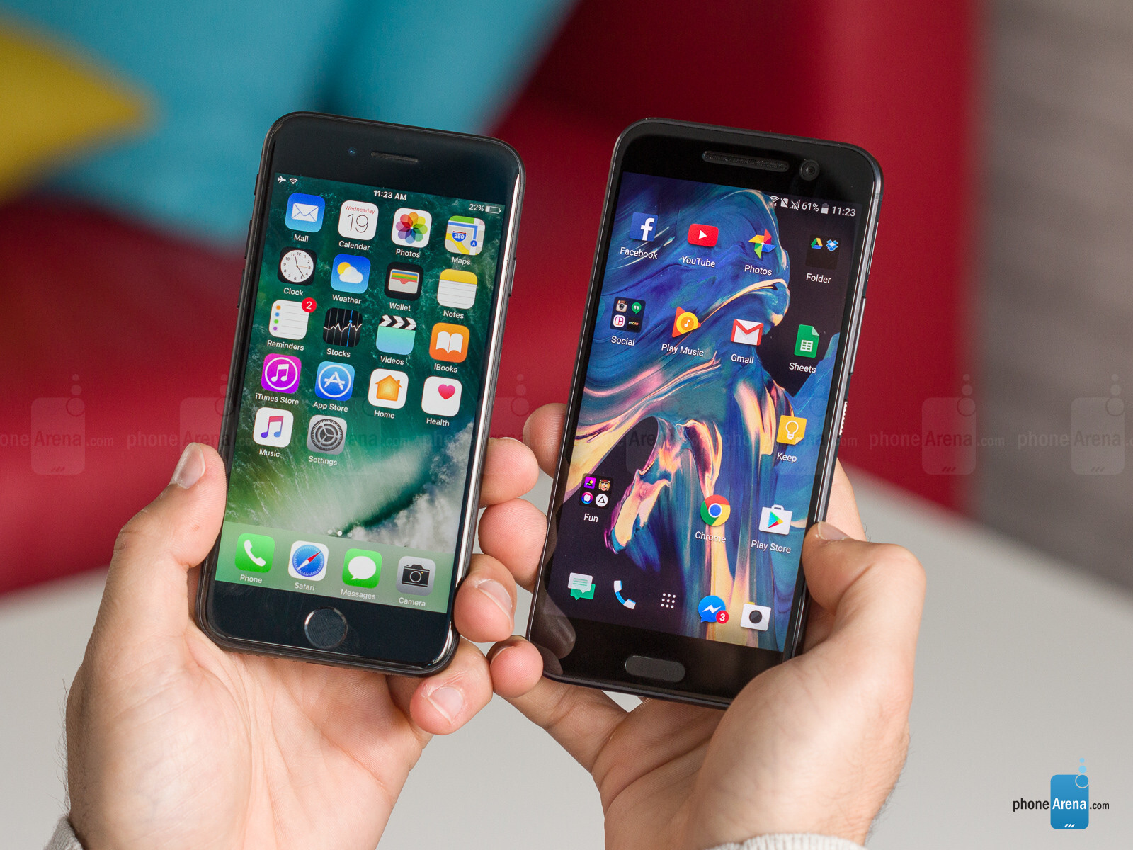 7 iphones ranked apple iphone 7 vs htc 10