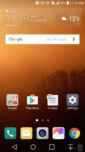 UI of the LG V20 - Google Pixel XL vs LG V20