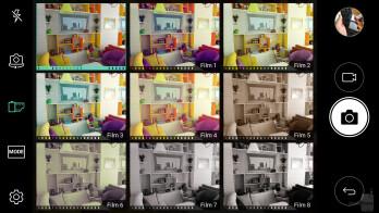 Camera UI of the LG V20 - Apple iPhone 7 Plus vs LG V20