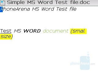 MS Word file - RIM BlackBerry Curve Review