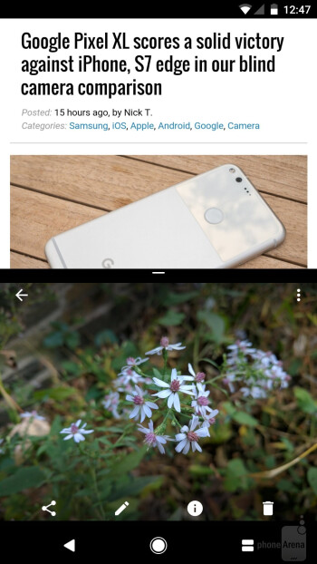 The UI of the Google Pixel - Samsung Galaxy S8 vs Google Pixel
