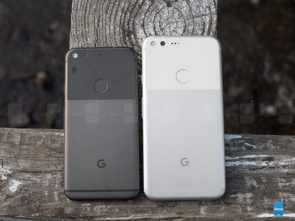Google Pixel (left) and Google Pixel XL (right) - Google Pixel Review