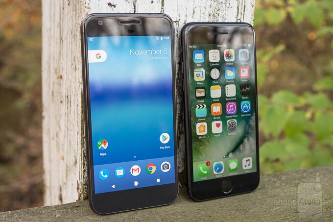 timeless design fd022 0f165 Google Pixel vs Apple iPhone 7 - PhoneArena