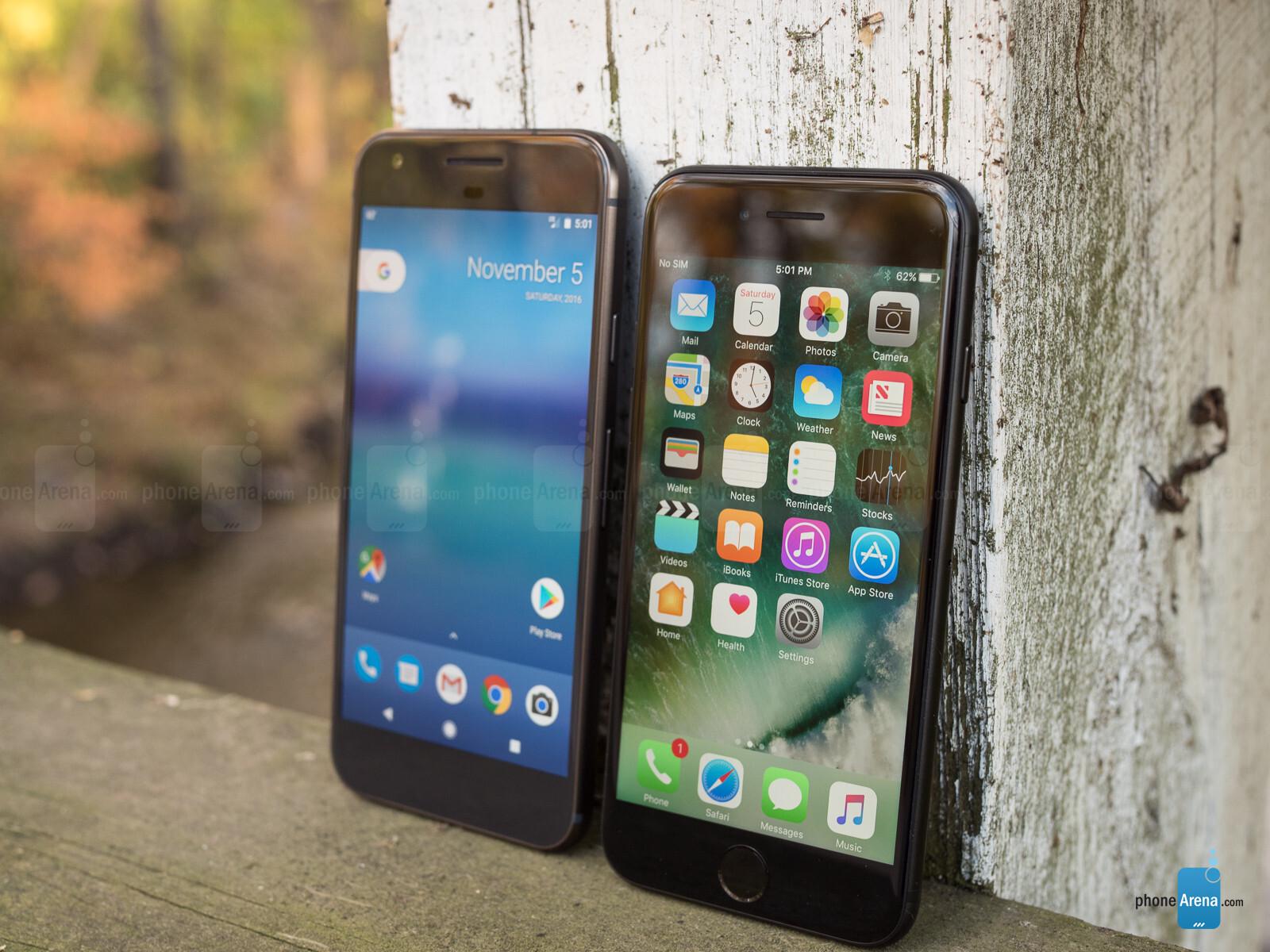 pixel vs iphone 7 battery life