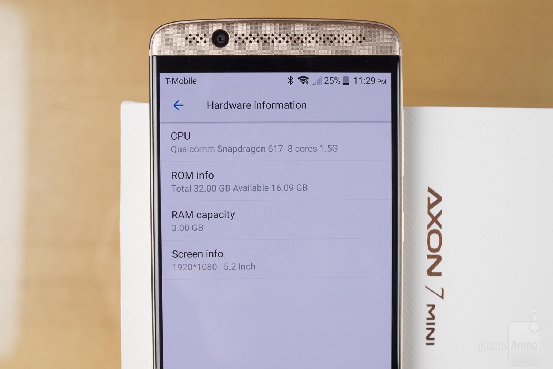 zte axon 7 mini benchmark hours standby time