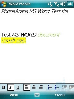 MS Word file - HTC TyTN II Review