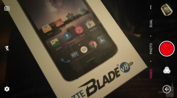 The video recording screen - ZTE Blade V8 Pro Review