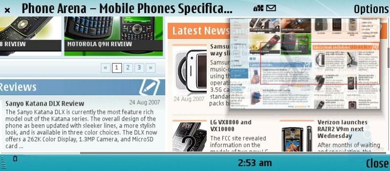 Minimap - Nokia E90 Communicator Review
