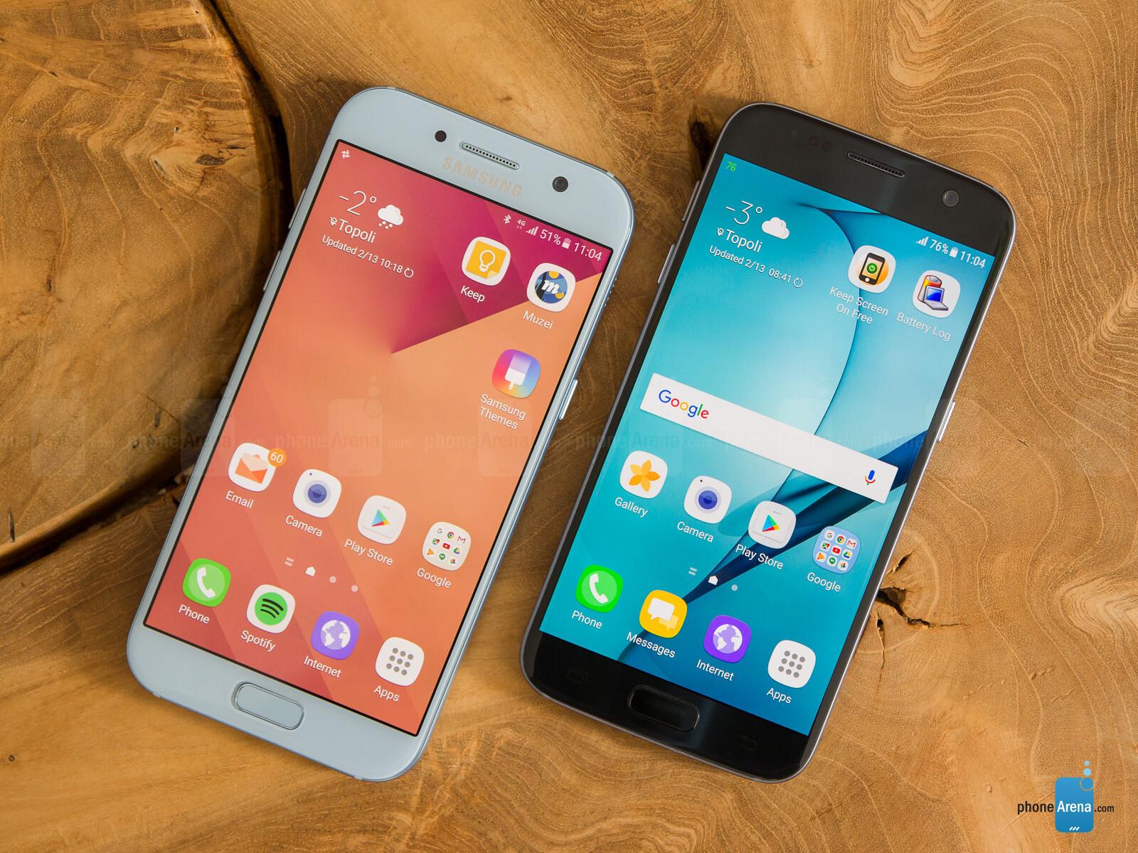 Samsung Galaxy A5 2017 Vs Samsung Galaxy S7 Phone Arena
