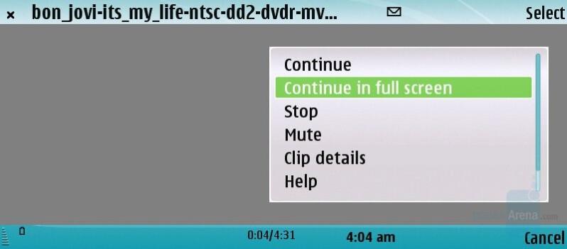 RealPlayer - Nokia E90 Communicator Review