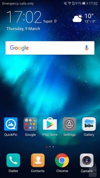 The EMUI 5.1 software is based on Android 7.0