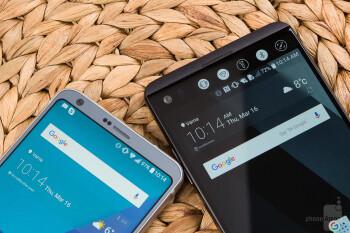 The V20 (right) packs a secondary display - LG G6 vs LG V20