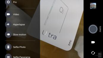 Camera interface - HTC U Ultra Review