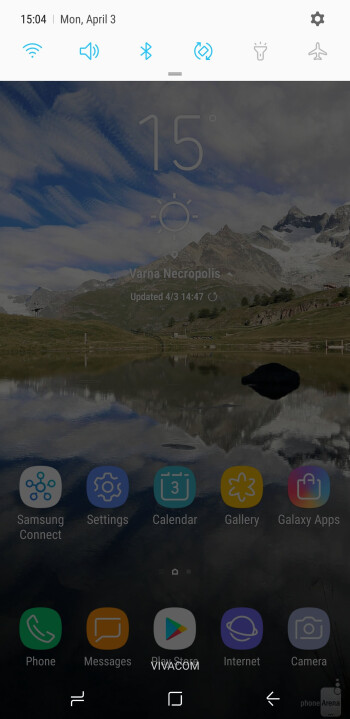 Main UI of the Galaxy S8+ - Samsung Galaxy S8+ Review