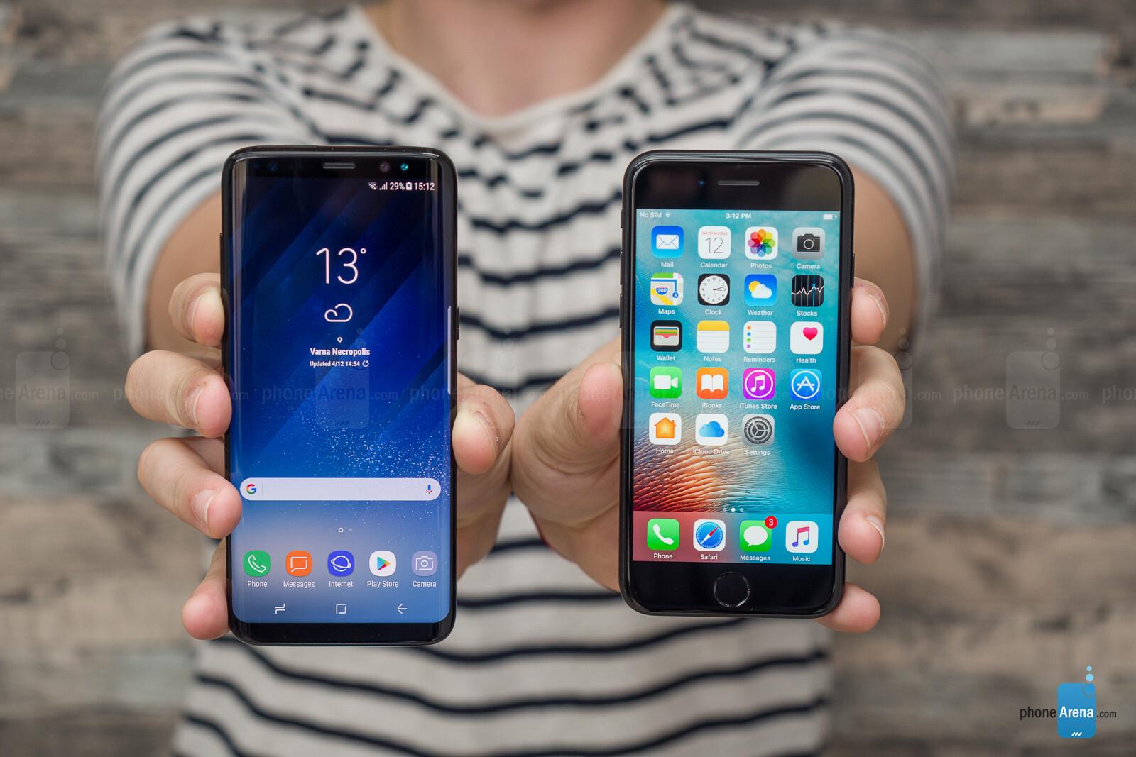 Iphone 7 vs samsung galaxy s8 camera
