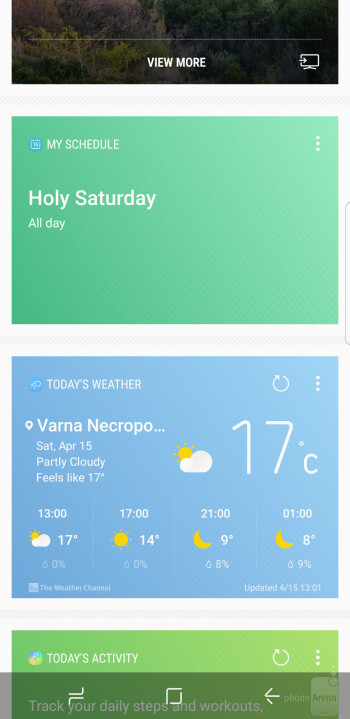 The 'Hello Bixby' screen - Samsung Galaxy S8 Review