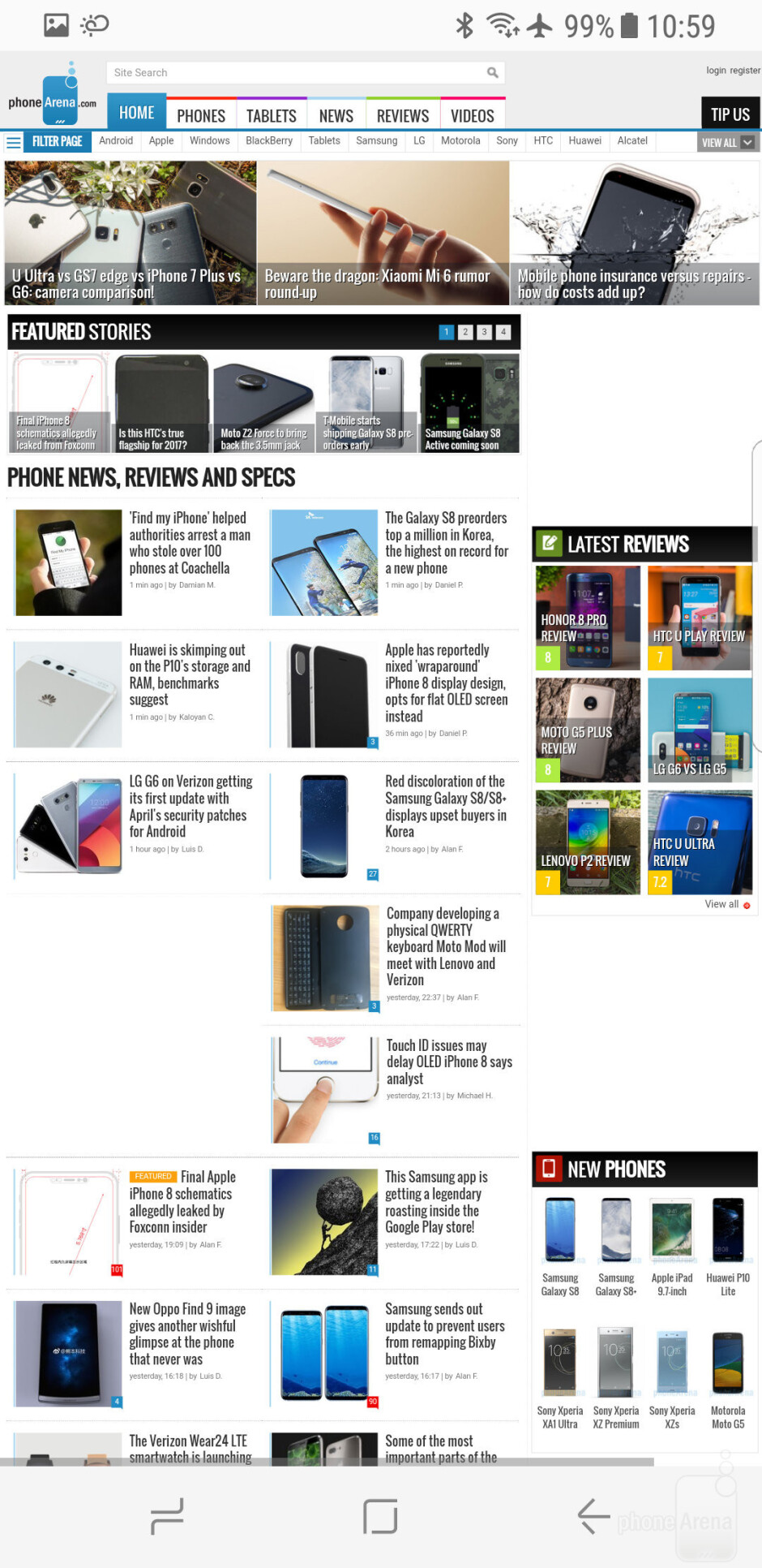 The Galaxy S8 runs its own home made Internet browser - Samsung Galaxy S8 Review