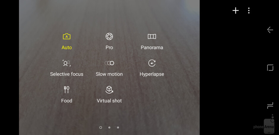 Samsung Galaxy S8's cam interface - Samsung Galaxy S8 vs OnePlus 3T