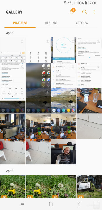 The Gallery app - Samsung Galaxy S8+ Review