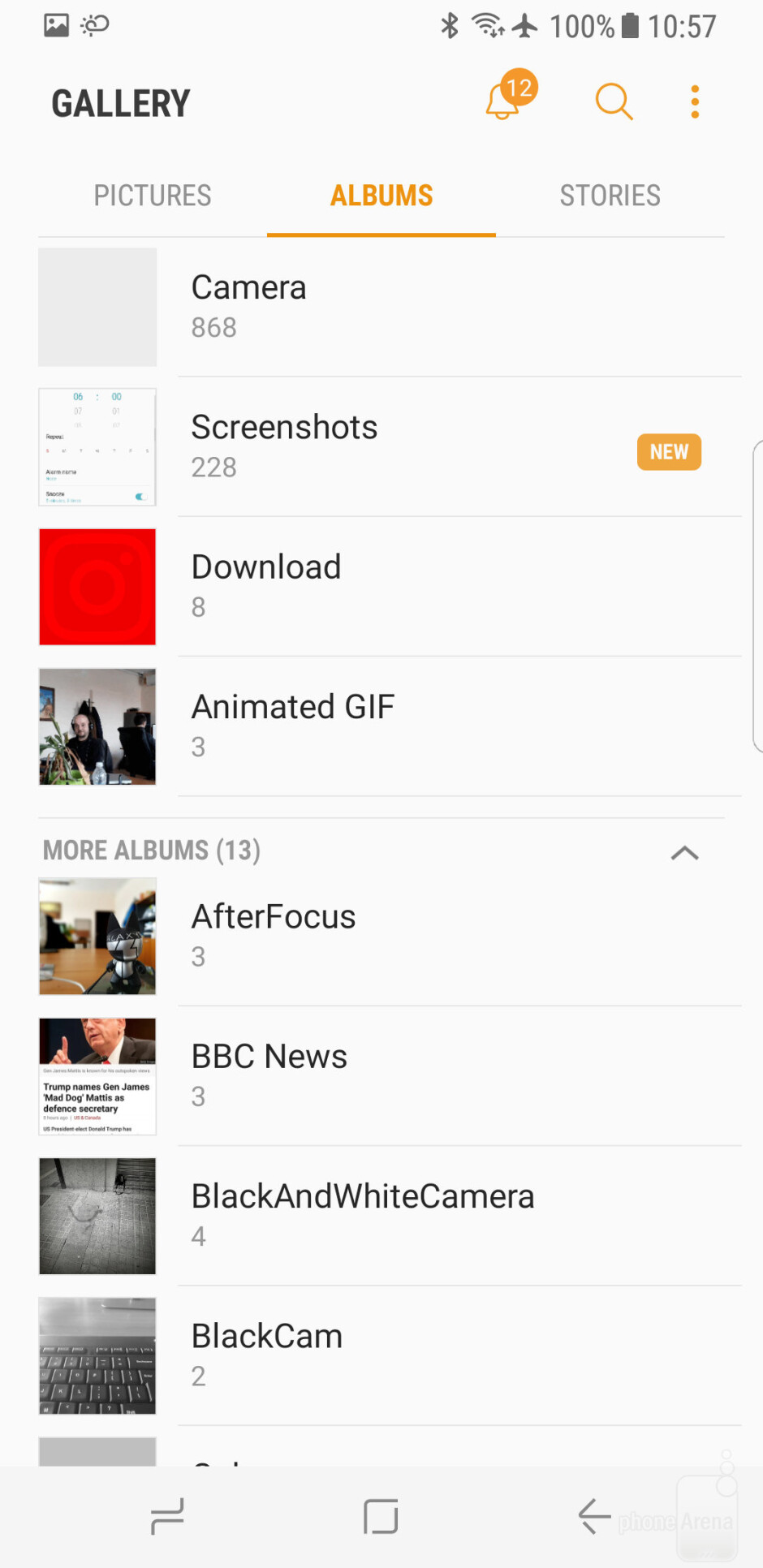 The Gallery app - Samsung Galaxy S8 Review
