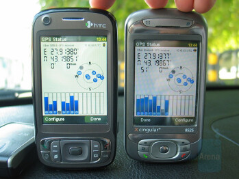 GPS Signal - TyTN II's gpsOne (left) vs SirfStar III connected to TyTN - HTC TyTN II Review