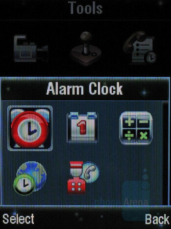 Alarm clock - Motorola KRZR K3 Review