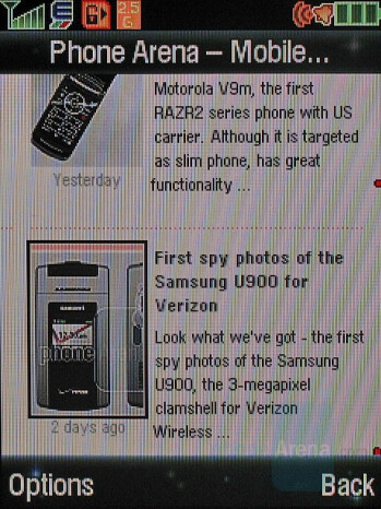 Internet browser - Motorola KRZR K3 Review