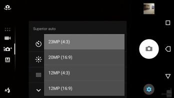 Camera UI - Sony Xperia XA1 Review