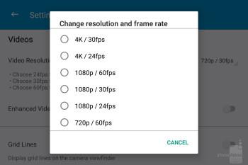 Camera interface of the BlackBerry KEYone - BlackBerry KEYone Review