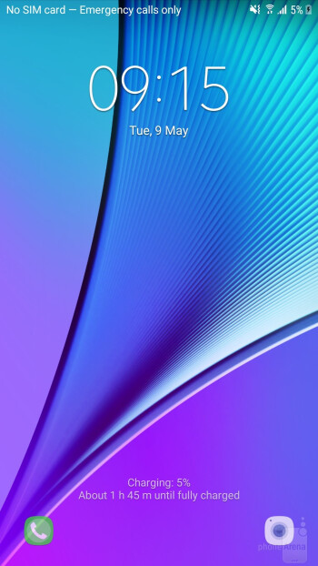 Main interface of the Galaxy Note 5 - Samsung Galaxy S8+ vs Galaxy Note 5