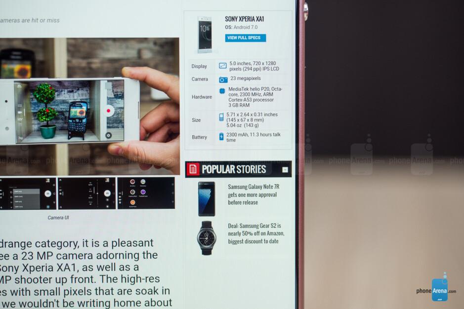 The sneaky black borders - Sony Xperia XA1 Ultra Review