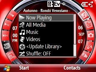 Multimedia home screen - Motorola Q9m Review