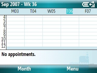 Calendar - Motorola Q9m Review