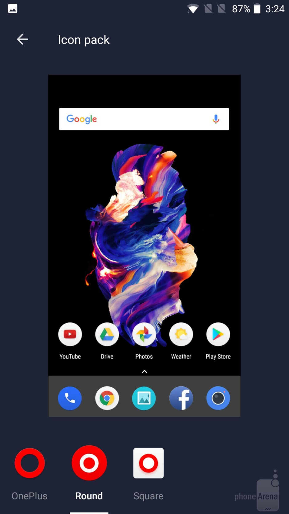 The OnePlus 5 features a clean Android interface that the company calls OxygenOS - OnePlus 5 vs Samsung Galaxy S8+