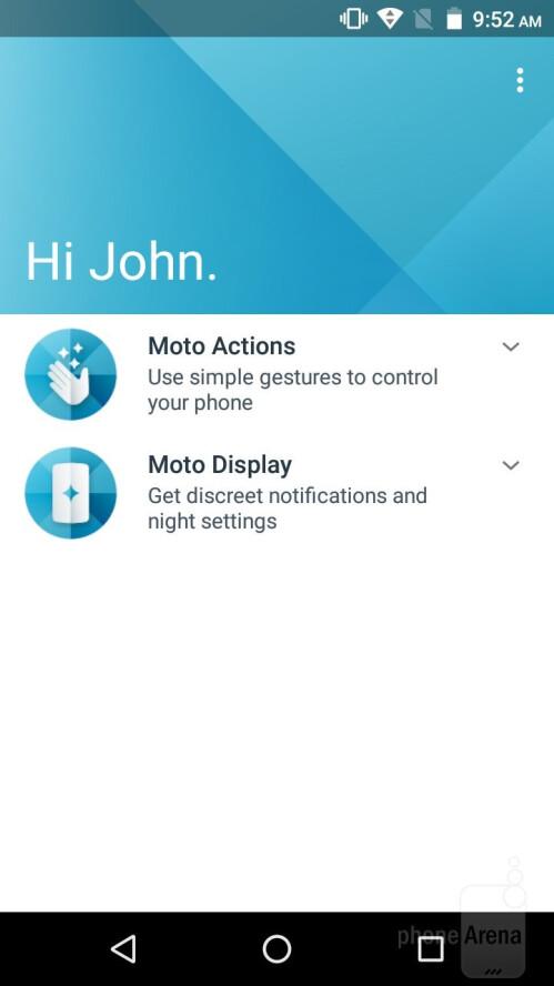 The Moto app