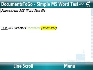 Word file - Motorola Q9m Review