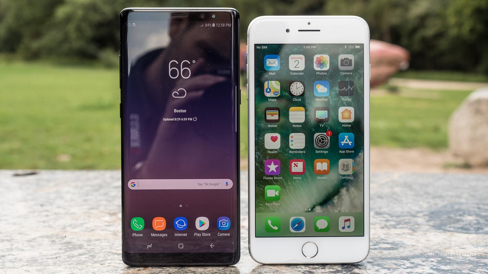 Iphone 7 vs galaxy 8