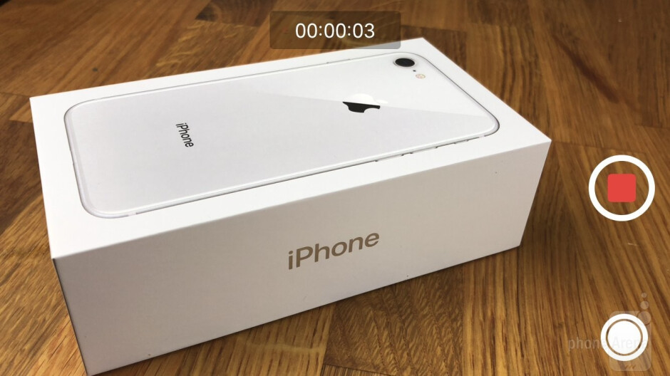 Camera UI of the iPhone 8 - Apple iPhone 8 Review