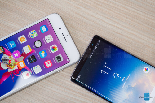 Apple iPhone 8 Plus vs Samsung Galaxy Note 8