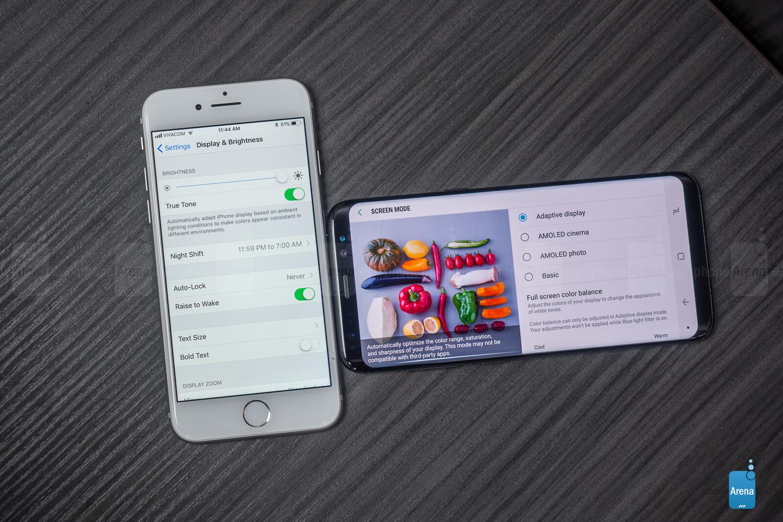 Iphone 8 vs s8 galaxy
