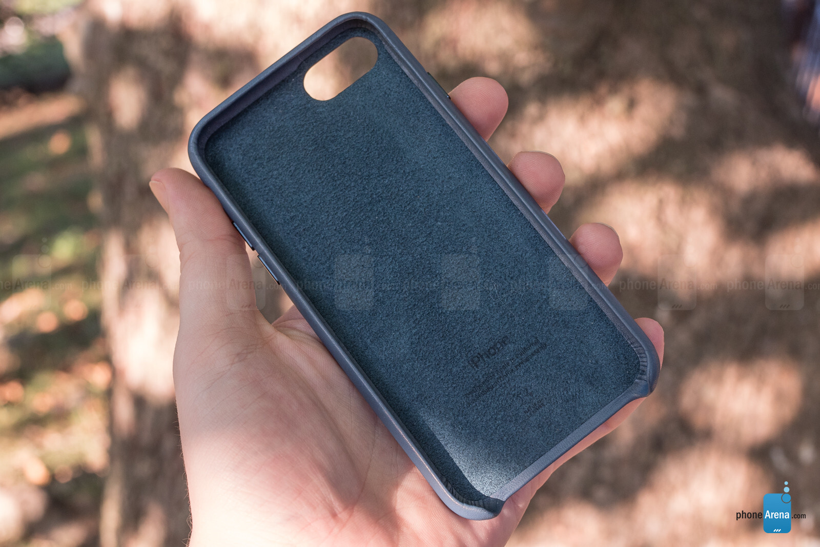 release date ce523 2e757 Apple iPhone 8 Official Leather Case Review - PhoneArena