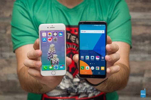 Apple iPhone 8 vs LG G6