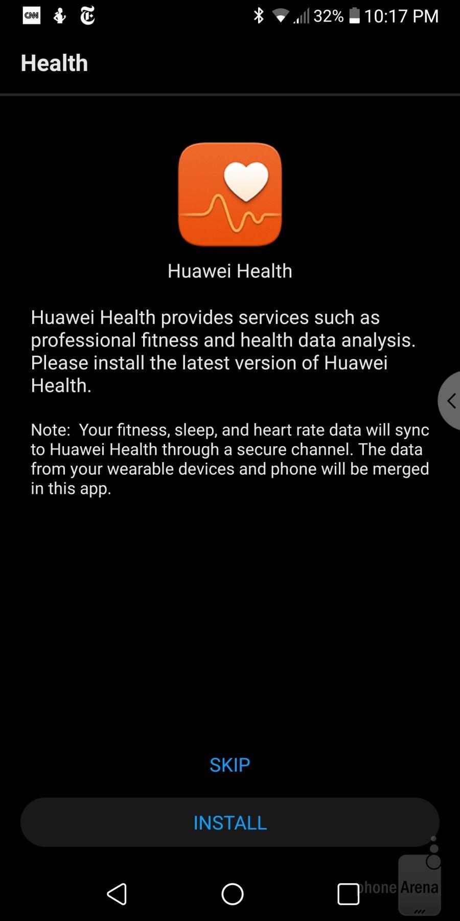 The Huawei Health  app
