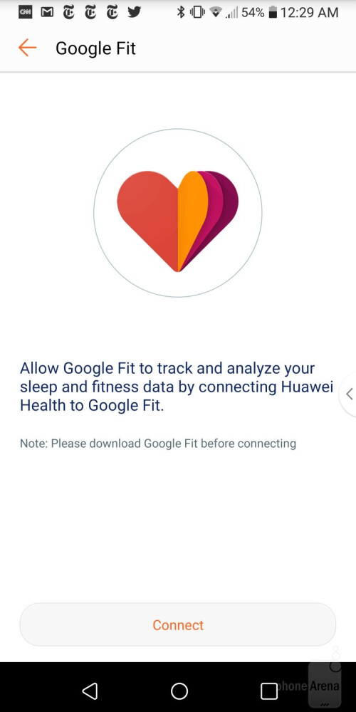 The apps can share data with  Apple Health and Google Fit